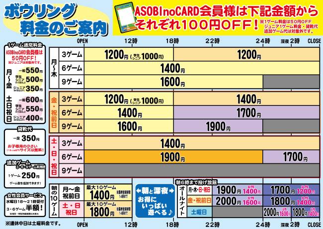 201510ボウリング料金表